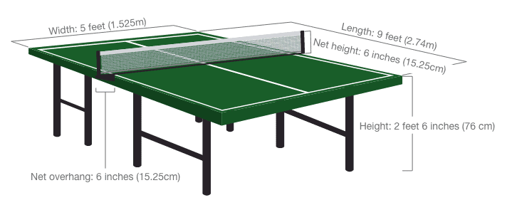 Ping Pong Table Dimensions The Games Guy