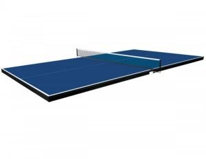 Table tennis conversion top for pool tables