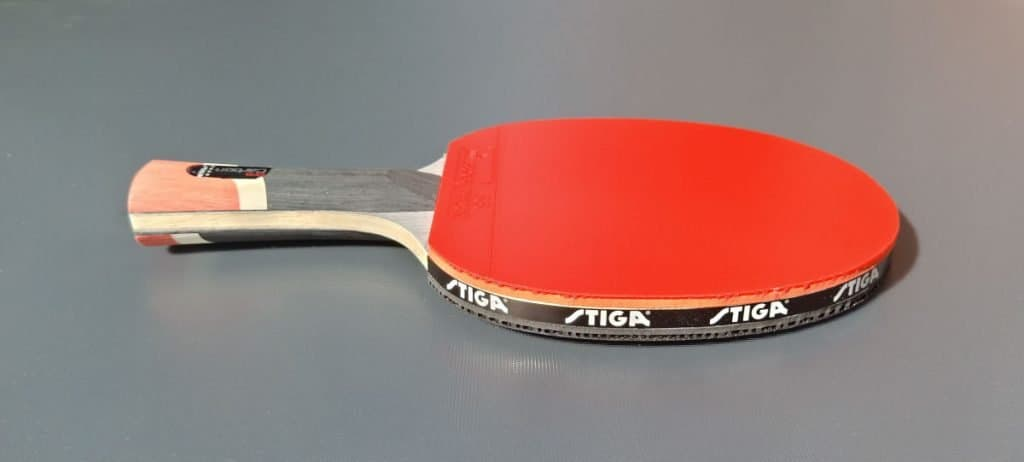 STIGA Pro Carbon Red rubber side view