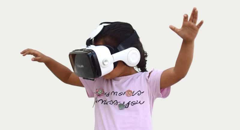 Child enjoying a VR headset