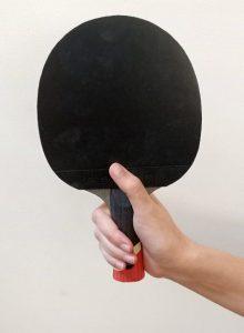 Deep shakehand ping pong paddle grip