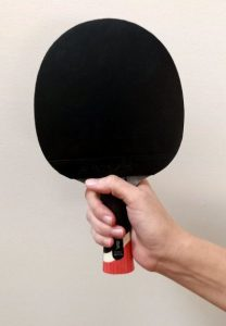 Shakehand ping pong paddle grip thumb placement