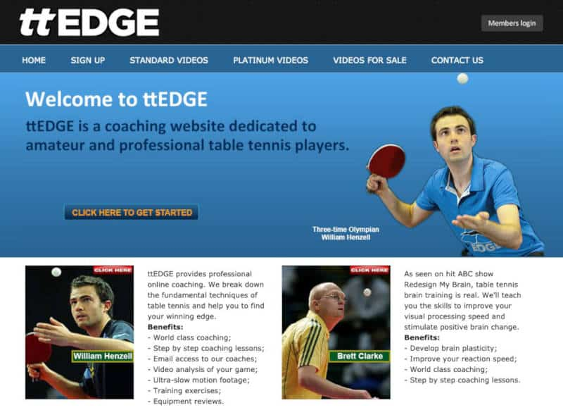 ttEDGE Table Tennis training