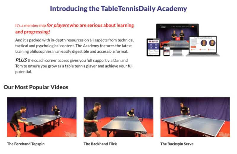 Table Tennis Daily Academy