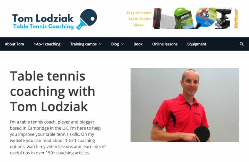 Tom Lodziak Table Tennis Coaching